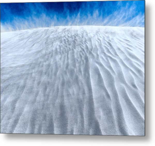 Sand Storm On The Horizon Metal Print