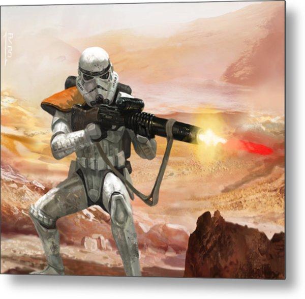Sand Trooper - Star Wars The Card Game Metal Print