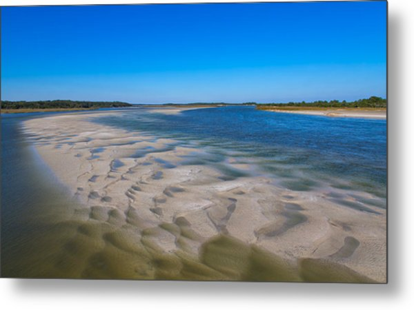 Sandbars On The Fort George River Metal Print