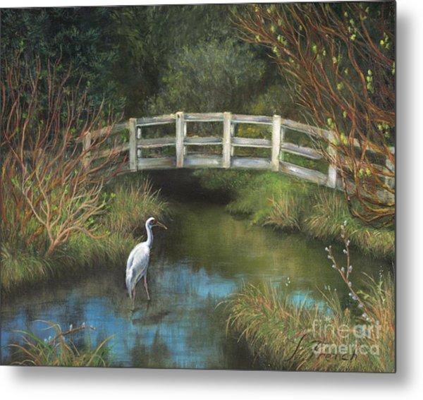 Sandhill Crane At Spring Creek Metal Print