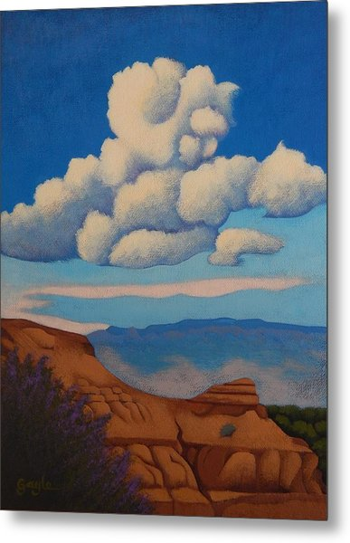 Sandia Clouds Metal Print