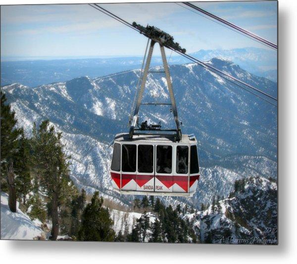 Sandia Peak Tramway Winter Metal Print