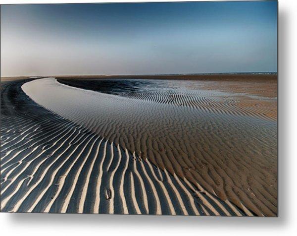 Sandlines Metal Print