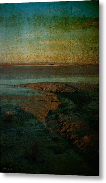 Sands At Mount St Michael Metal Print