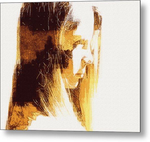Etched Sandstone Metal Print by Jodie Marie Anne Richardson Traugott          aka jm-ART