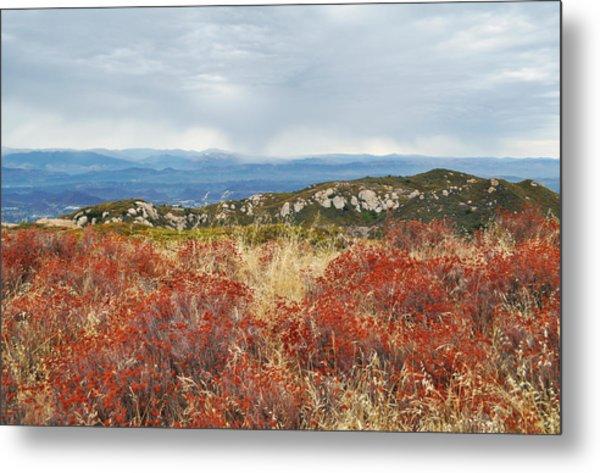 Sandstone Peak Fall Landscape Metal Print