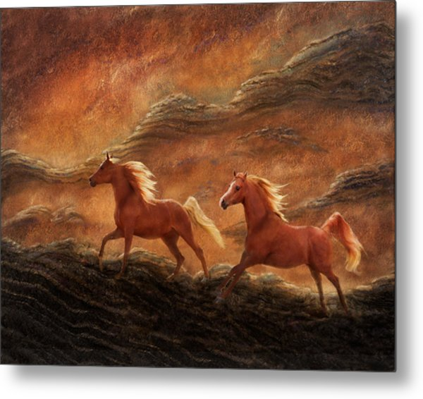 Sandstone Sunset Metal Print