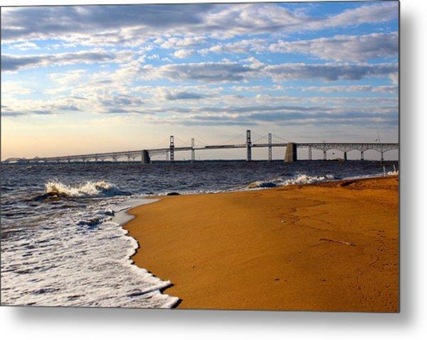 Sandy Bay Bridge Metal Print
