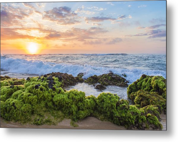 Sandy Beach Sunrise 2 Metal Print