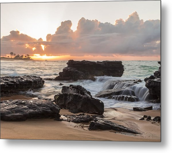 Sandy Beach Sunrise 6 Metal Print