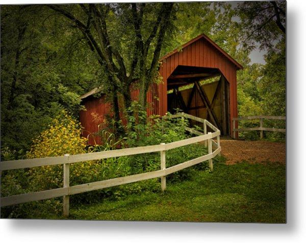 Sandy Creek Bridge Near Hillsboro Mo Dsc06888 Metal Print