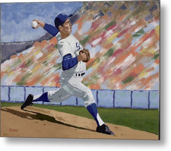 Sandy Koufax Metal Print by Ron Gibbs
