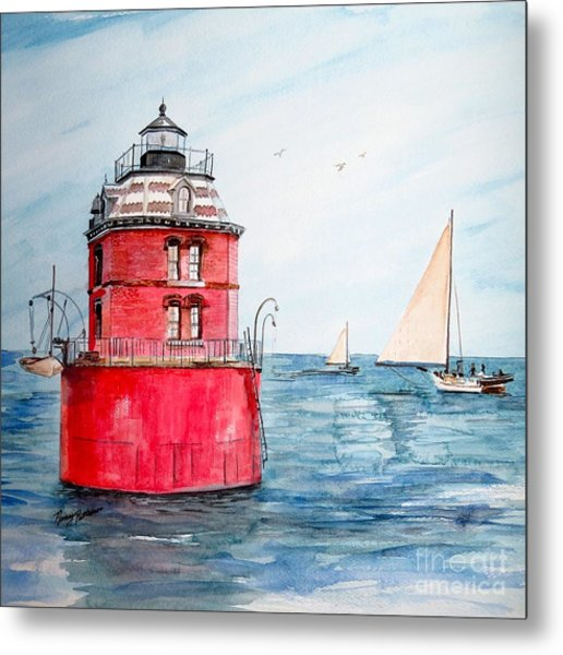 Sandy Point Lighthouse 2 Metal Print
