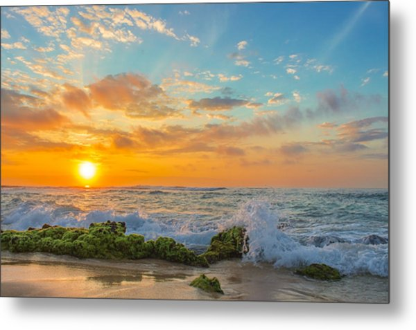 Sandy Beach Sunrise 3 Metal Print