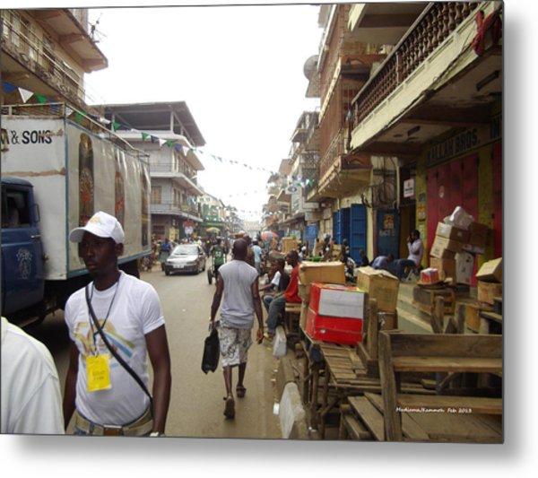 Sani Abacha Street- Year 2011 Metal Print