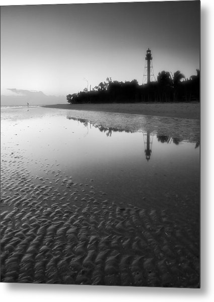 Sanibel Lighthouse And Beach II Metal Print