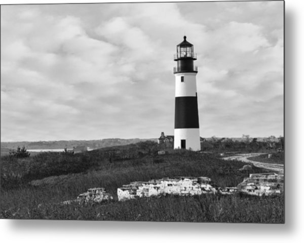 Sankaty Head Lighthouse Nantucket Cape Cod Metal Print