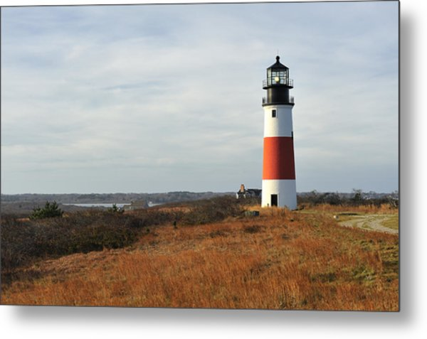 Sankaty Head Lighthouse Nantucket In Autumn Colors Metal Print