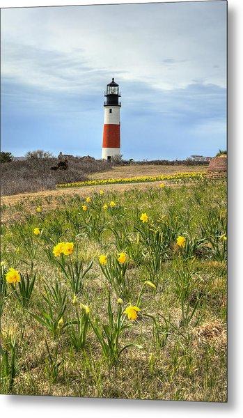 Sankaty Lighthouse Nantucket Metal Print