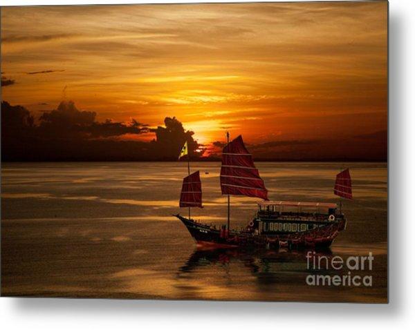 Sanpan Sunset Metal Print
