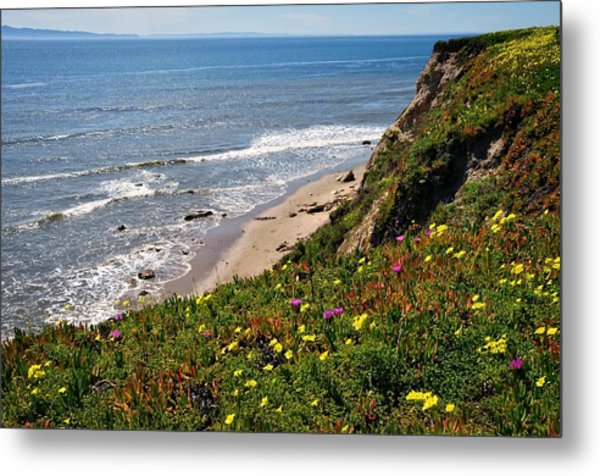 Santa Barbara Beach Beauty Metal Print