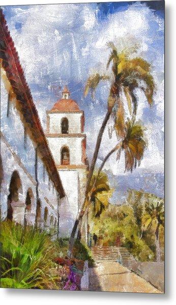 Santa Barbara Mission Metal Print