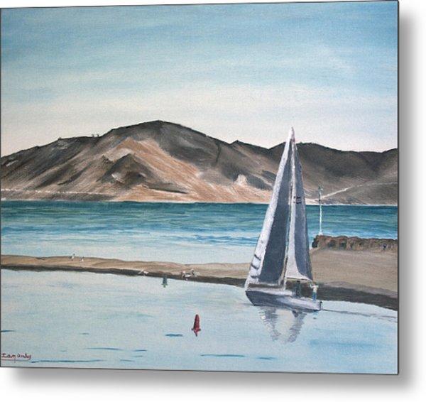 Santa Barbara Sailing Metal Print