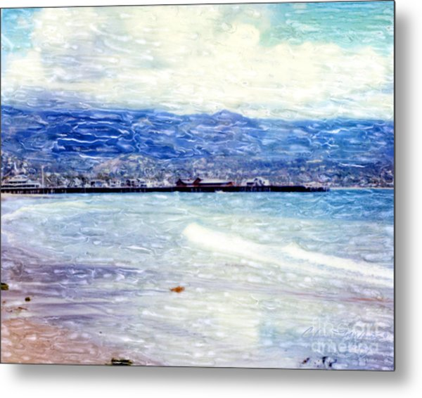 Metal Print featuring the mixed media Santa Barbara Shore by Glenn McNary