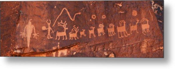 Santa Claus Petroglyph Metal Print