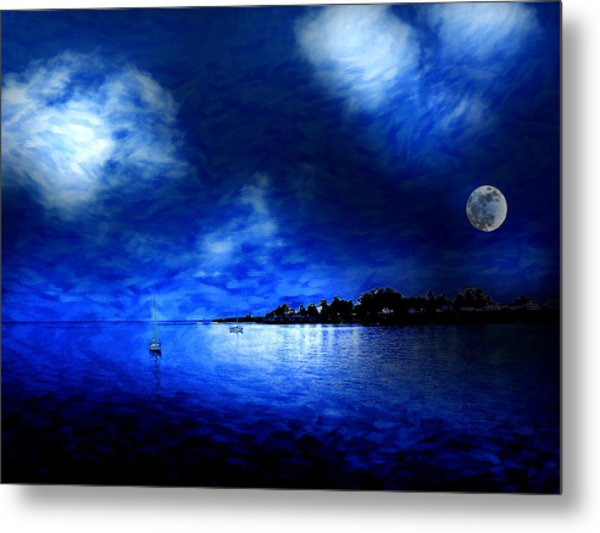 Santa Cruz Evening 2 Metal Print by Cary Shapiro