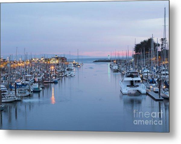 Santa Cruz Harbor At Dusk Metal Print
