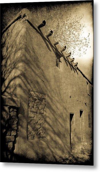 Santa Fe Adobe Metal Print