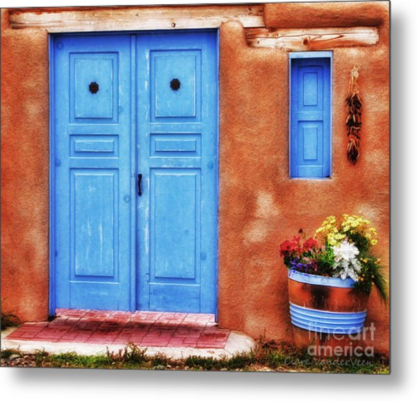 Santa Fe Doorway Metal Print