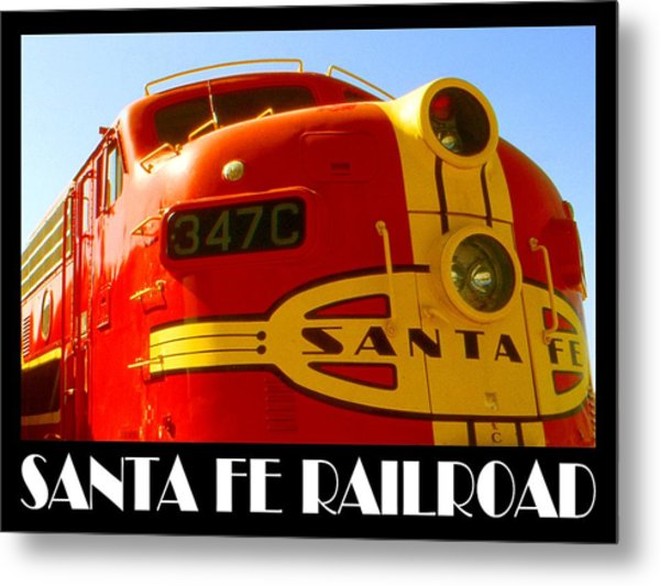 Santa Fe Railroad Color Poster Metal Print