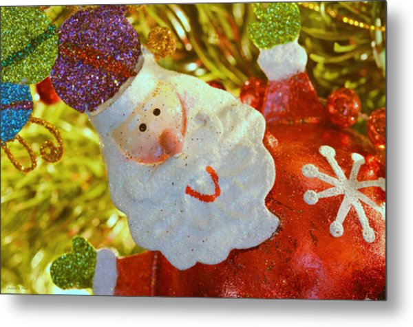 Santa Greetings Metal Print