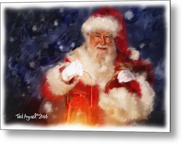Santa Is Comin' To Town Metal Print