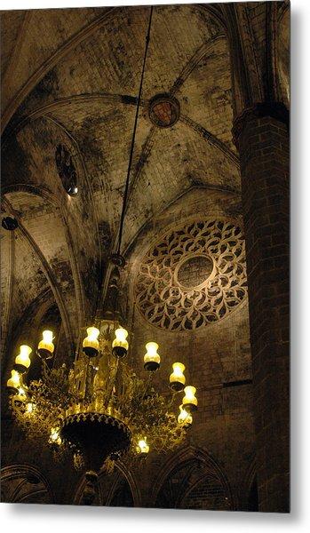 Santa Maria Del Mar Basilica V Metal Print by Kathy Schumann