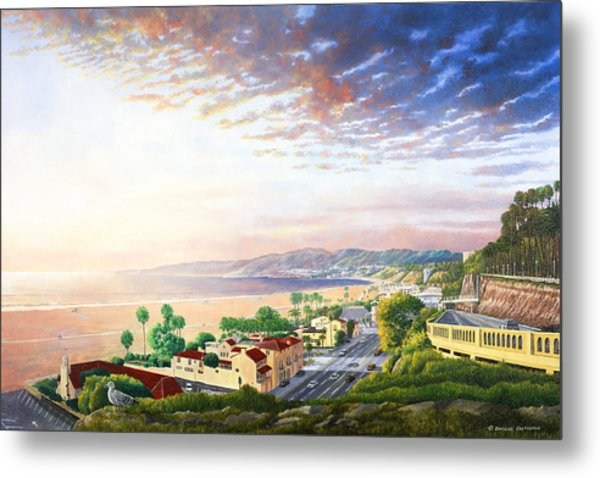 Santa Monica View North Metal Print