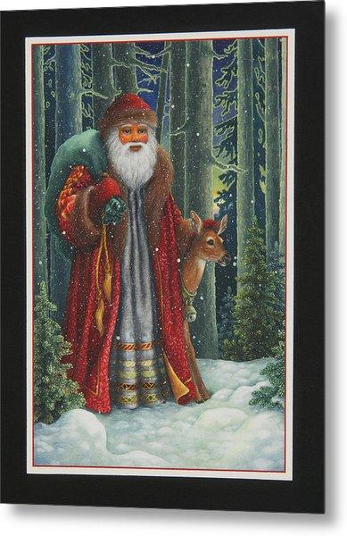 Santa's Journey Metal Print