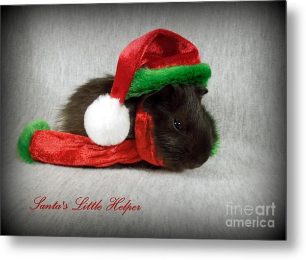 Santa's Little Helper Metal Print