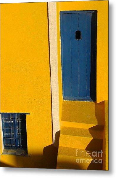 Santorini Doorway Metal Print