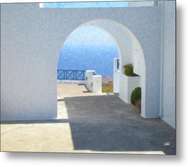Santorini Grk8681 Metal Print