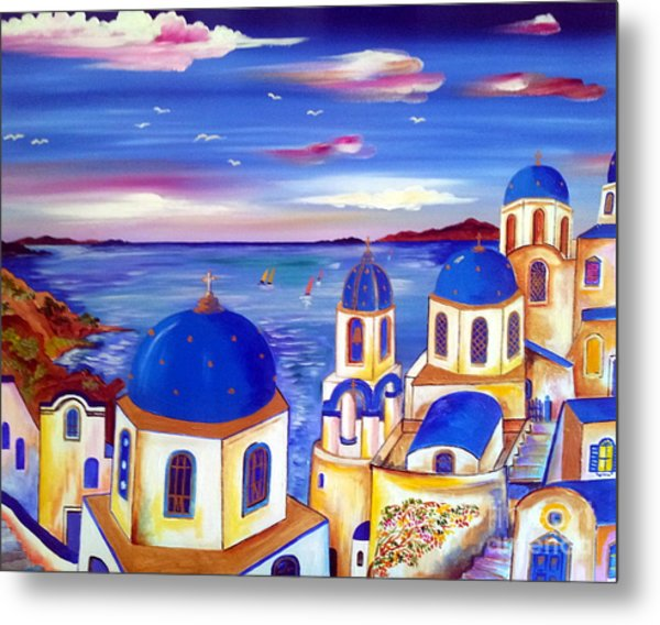 Santorini Is My Dream Metal Print