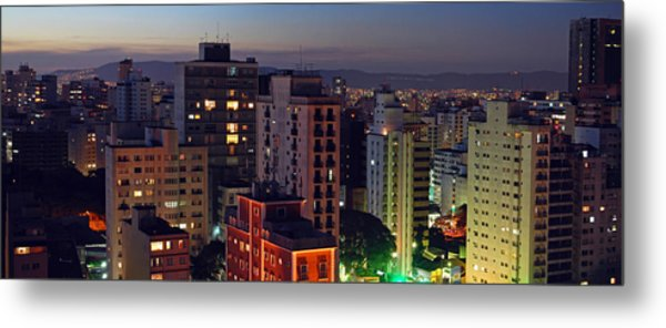 Sao Paulo Downtown At Dusk Metal Print