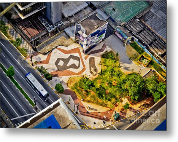 Sao Paulo Downtown - Geometry Of Public Spaces Metal Print