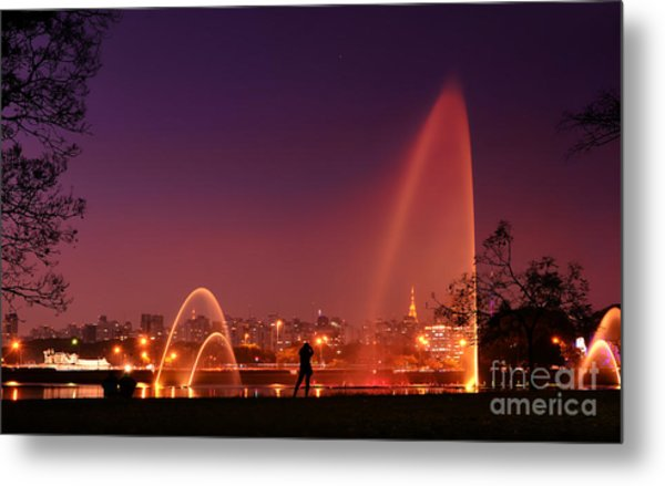 Sao Paulo - Ibirapuera Park At Dusk - Contemplation Metal Print