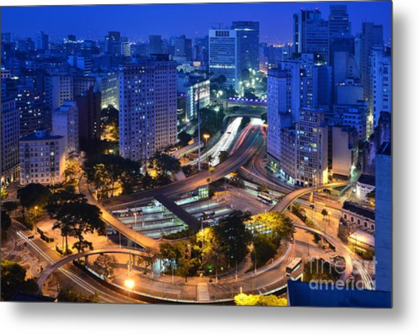 Sao Paulo Skyline - Downtown Metal Print