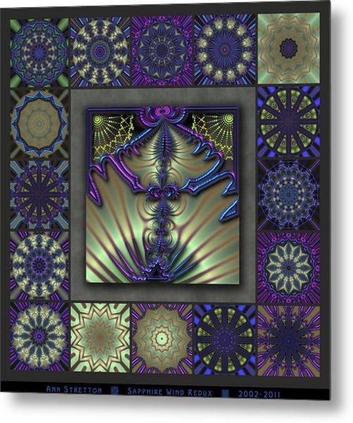 Sapphire Wind Redux  Metal Print