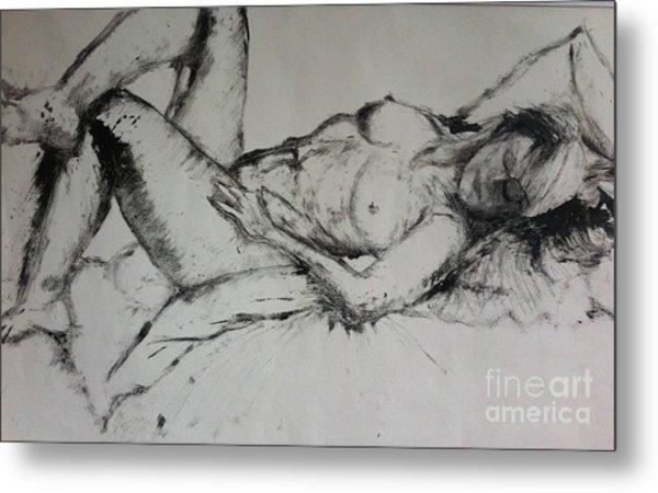 Sarah Sleeping Metal Print