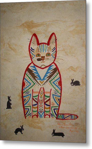 Sarah's Cat Metal Print